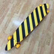 Longboard orange/gold flakes