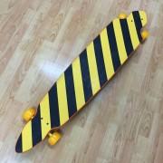 Longboard orange/gold flakes